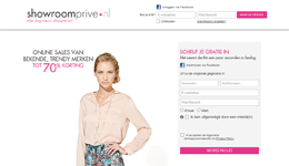 Screenshot Showroomprive.nl