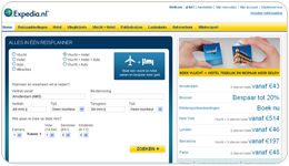 Screenshot Expedia.nl