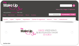 Screenshot TheMakeUpSpot.nl