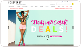 Screenshot Forever21.com